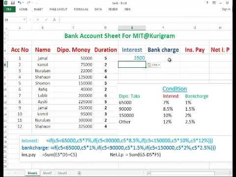 Excel Banking Spreadsheet Microsoft Excel Bank Account Spreadsheet