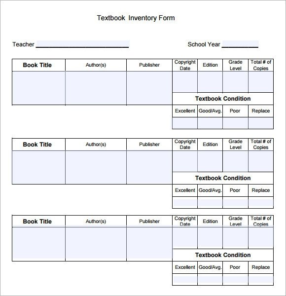 Excel Book Inventory Template Book Inventory Sample 4 Documents In Pdf