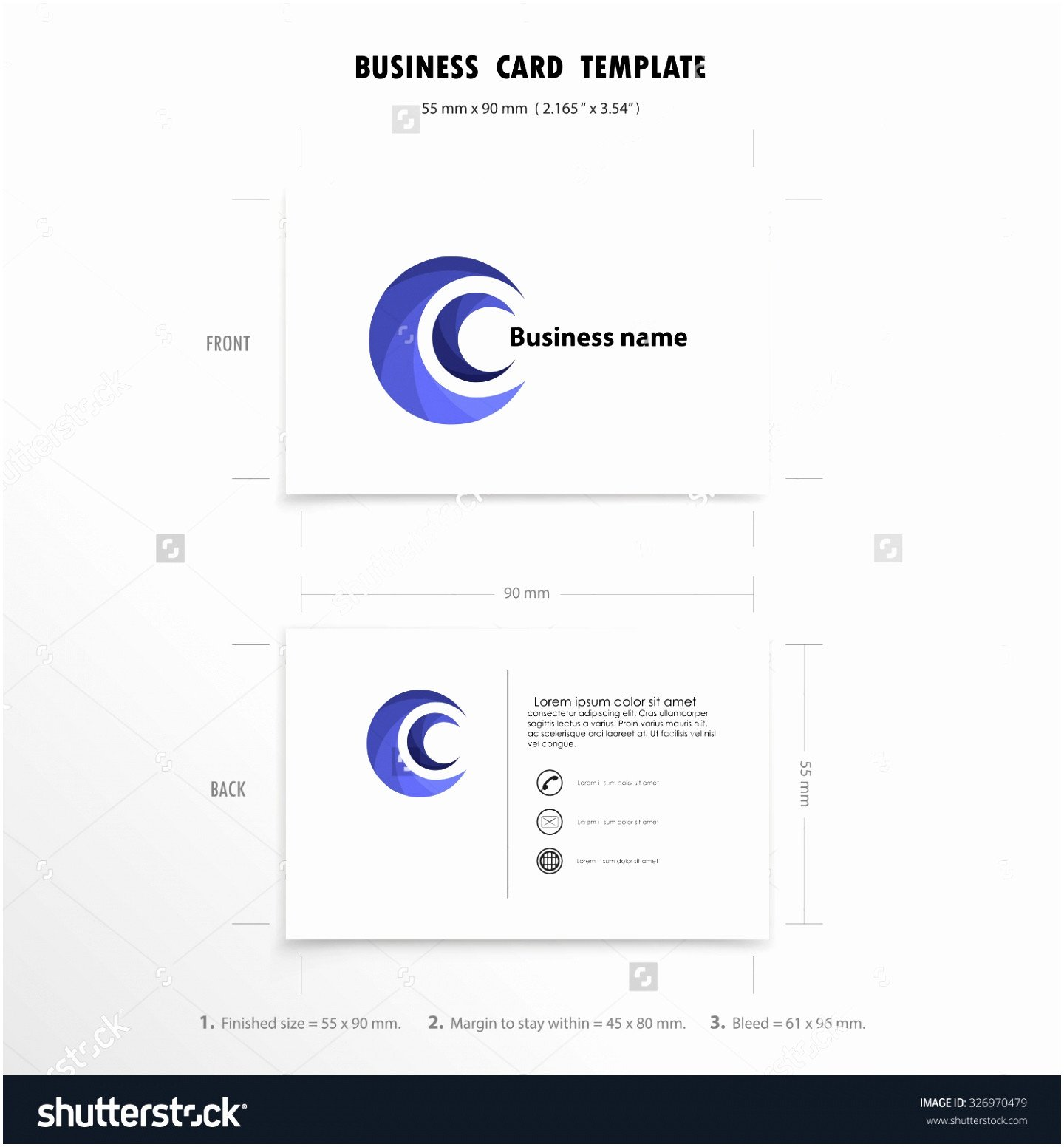 Excel Business Card Template 8 Name Card Size Template Qooye