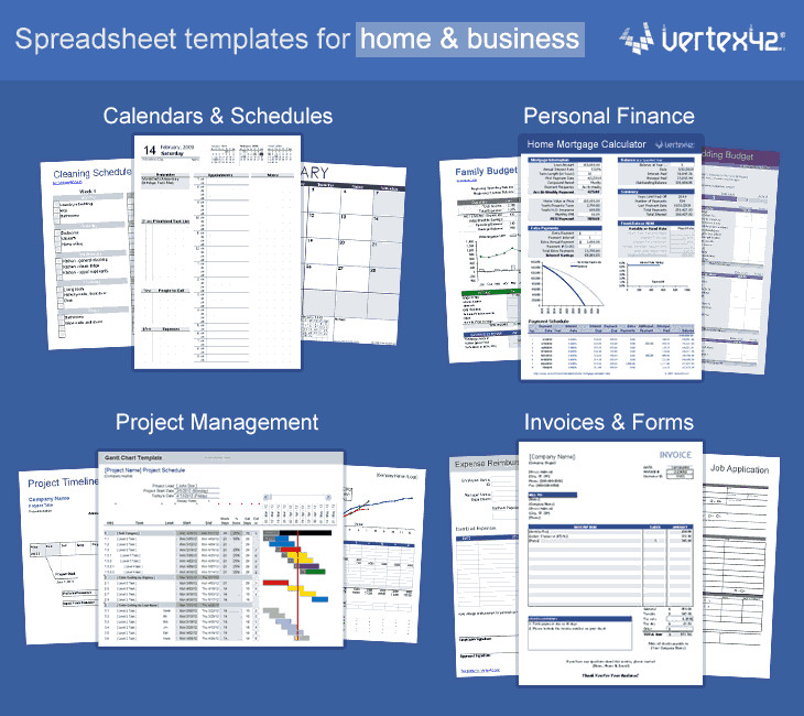 Excel Business Card Template Vertex42 Excel Templates Calendars Calculators and