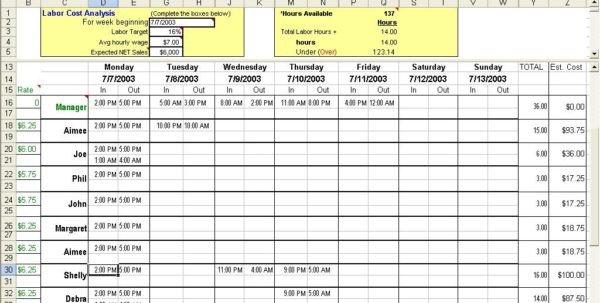 Excel Employee Schedule Template Excel Spreadsheet Template for Scheduling Spreadsheet