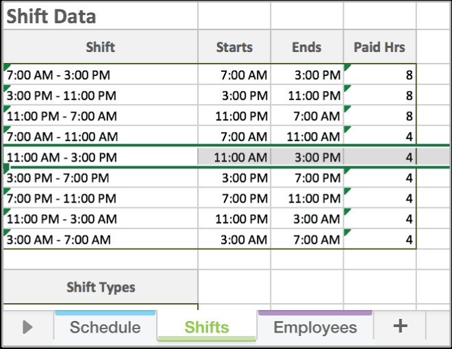 Excel Employee Schedule Template Free Excel Employee Scheduling Template