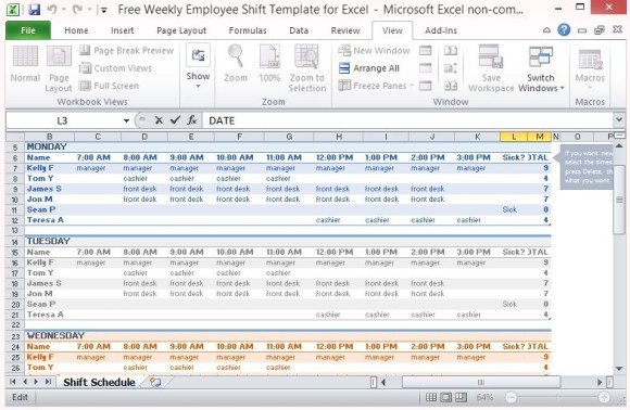 Excel Employee Schedule Templates Free Weekly Employee Shift Template for Excel