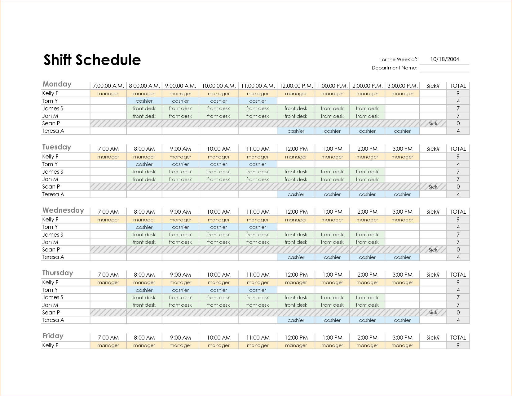 Excel Employee Schedule Templates Monthly Employee Schedule Template Excel