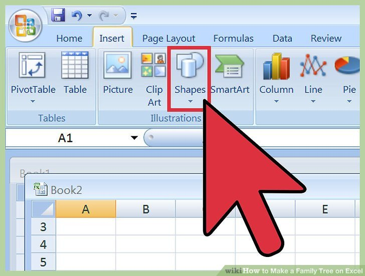 Excel Family Tree Templates 3 Ways to Make A Family Tree On Excel Wikihow