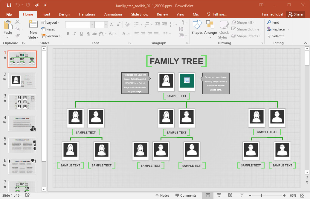 Excel Family Tree Templates Family Tree Template for Excel