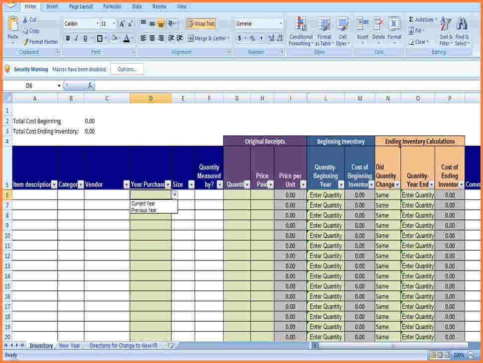 Excel Inventory Template with formulas 10 Office Supply Spreadsheet
