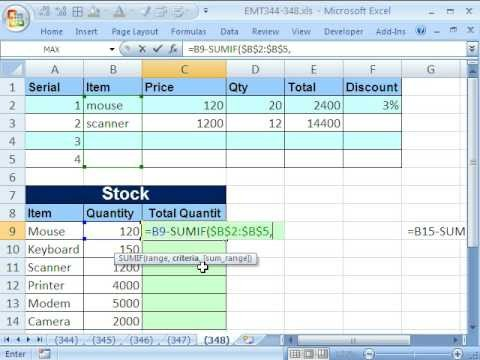 Excel Inventory Template with formulas Excel Magic Trick 348 formula for Unit Inventory total