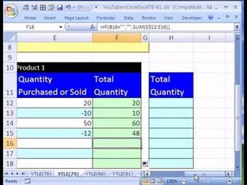 Excel Inventory Template with formulas Ytle 79 formula for Running total Inventory