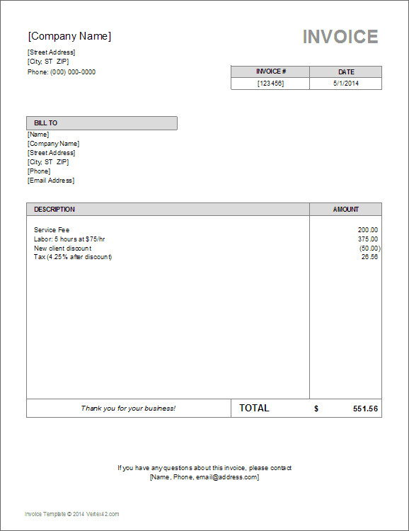 Excel Invoice Template Download 10 Simple Invoice Templates Every Freelancer Should Use