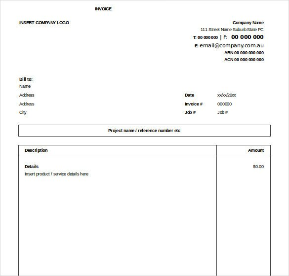 Excel Invoice Template Download 32 Excel Invoice Templates Word Ai Psd Google Docs
