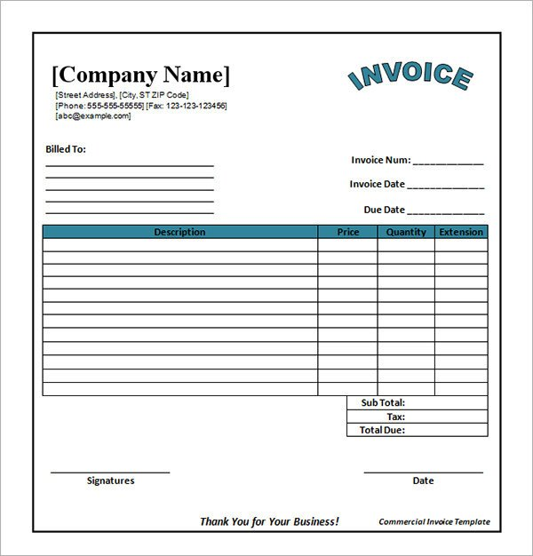 Excel Invoice Template Download Invoice Template Excel Free