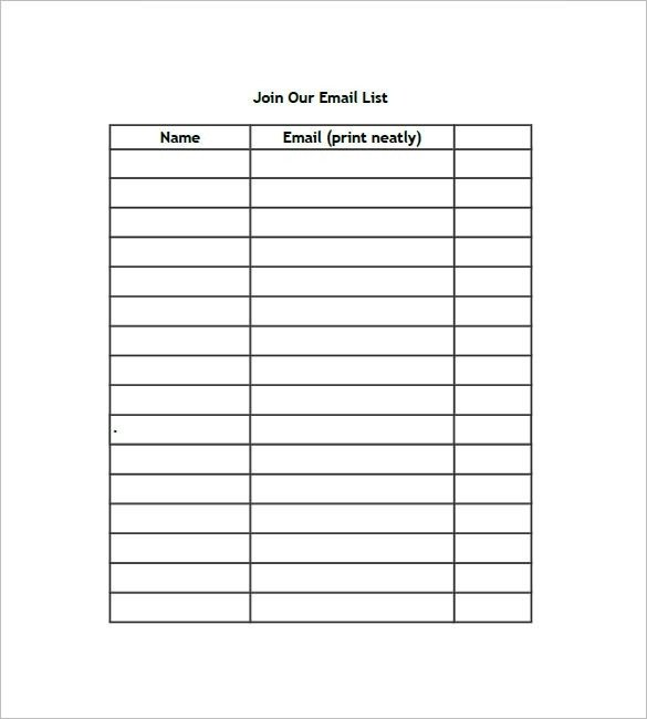 Excel Mailing List Template Name List Template