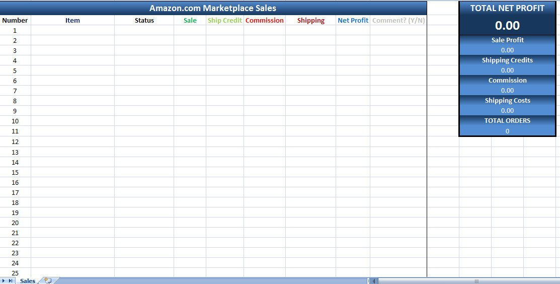 Excel Sales Tracking Template Amazon Sales Tracking Excel Template