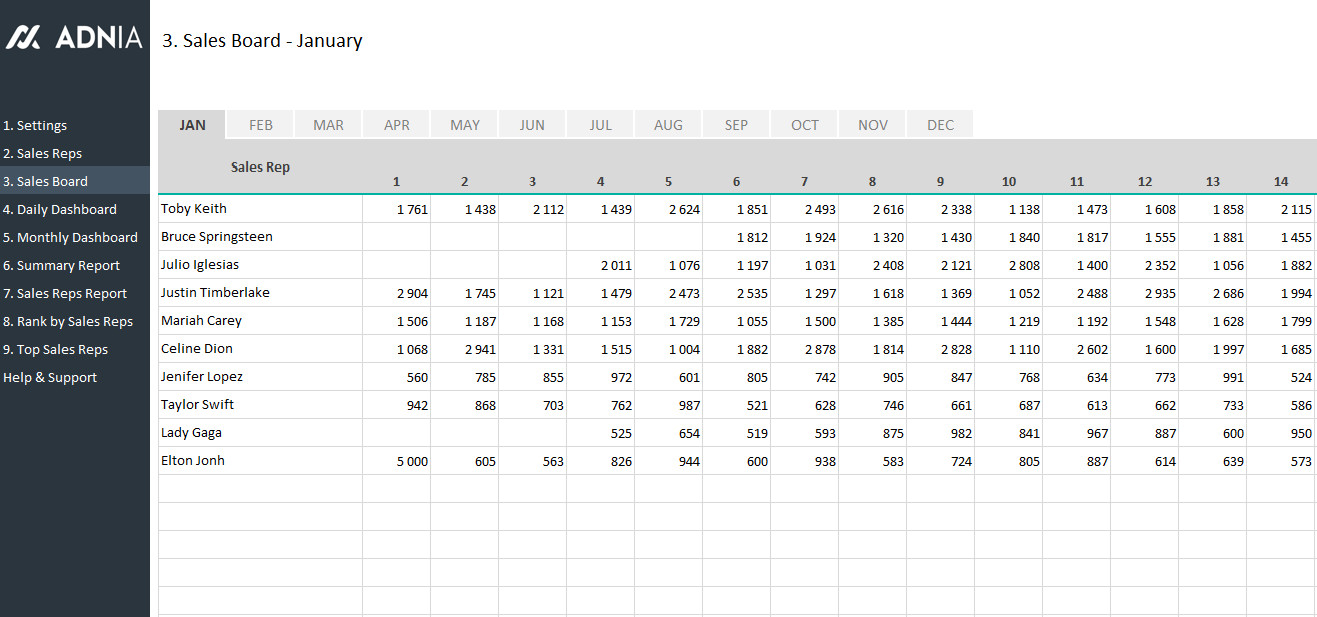 Excel Sales Tracking Template Daily Sales Tracking Template