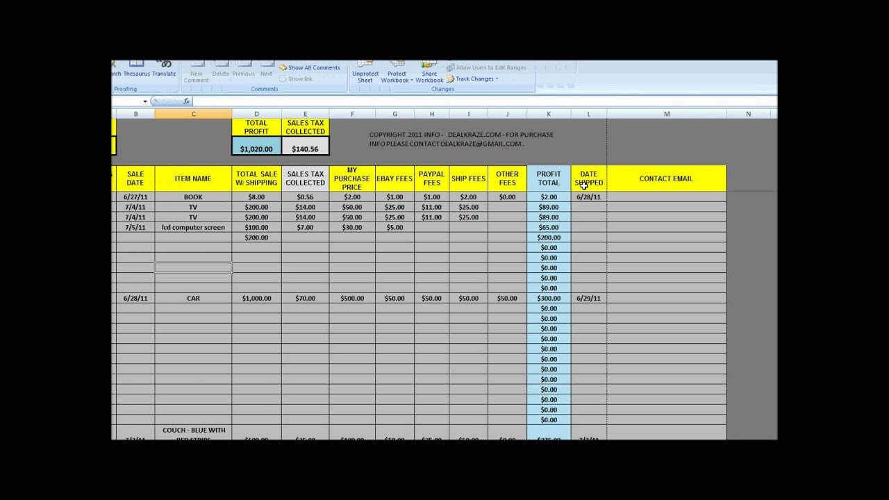 Excel Sales Tracking Template Great tool for Ebay Tracking Sales Sheet From Dealkraze