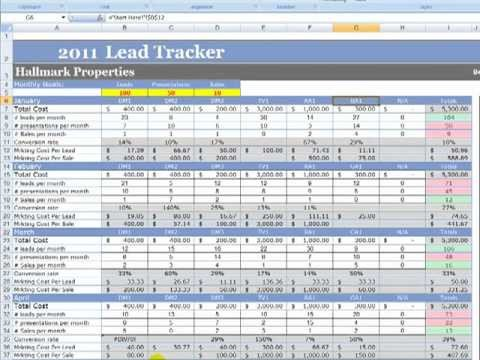 Excel Sales Tracking Template Marketing and Lead Tracker Demo4
