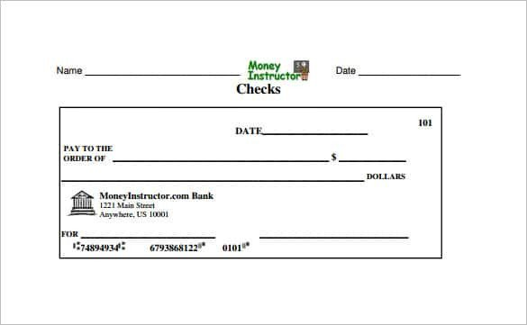 Excel Template Check Printing 24 Blank Check Template Doc Psd Pdf & Vector formats
