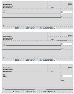 Excel Template Check Printing Blank Check Template & Deposit form