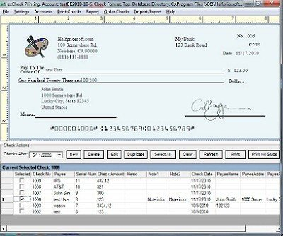 Excel Template Check Printing Blank Check Template