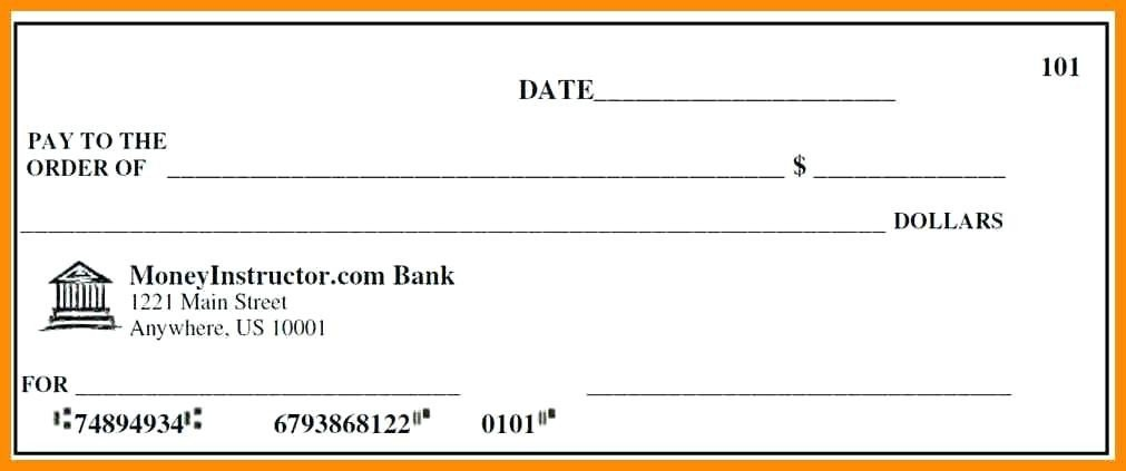 Excel Template Check Printing Cheque Template Excel