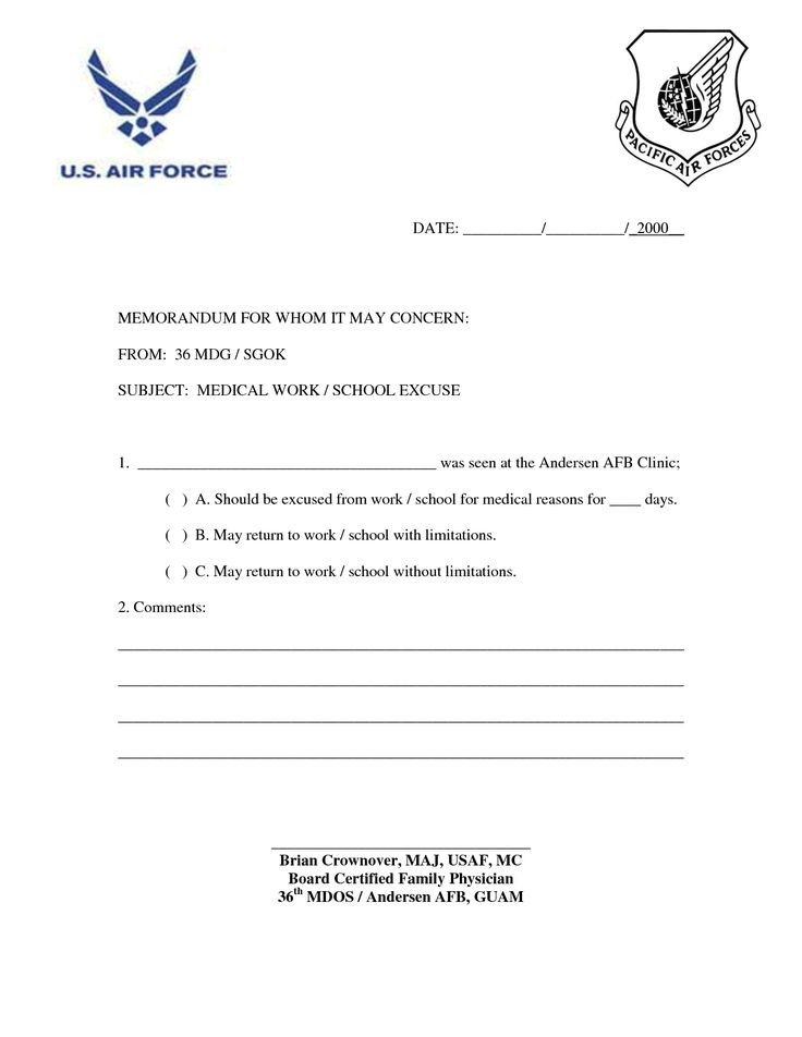 Excuse Notes for School Doctors Excuse for Work Template