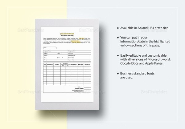 Expense Report Template Google Docs 31 Expense Report Templates Pdf Doc