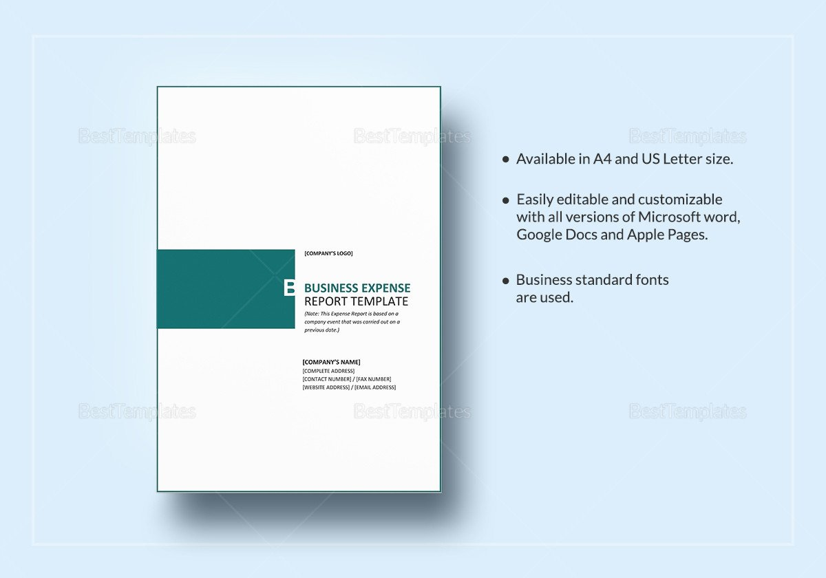 Expense Report Template Google Docs Business Expense Report Template In Word Google Docs