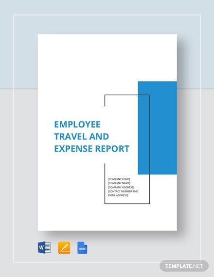 Expense Report Template Google Docs Employee Expense Report Template 9 Free Excel Pdf