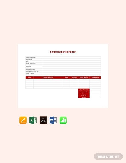 Expense Report Template Google Docs Expense Report Template 21 Free Sample Example format