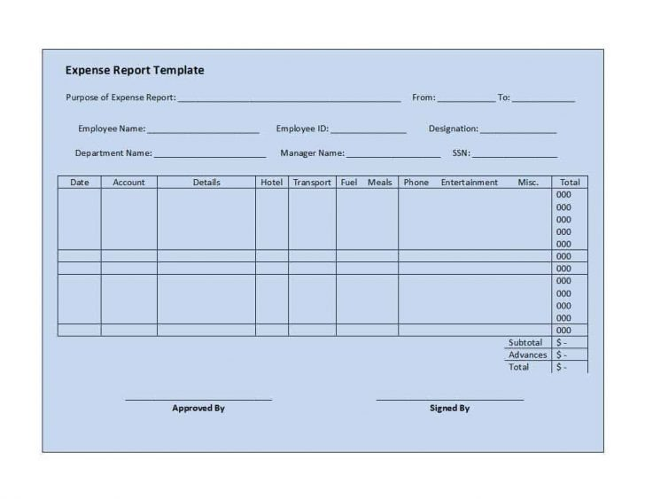 Expense Report Template Google Docs Expense Report Template Google Docs – Expense Report