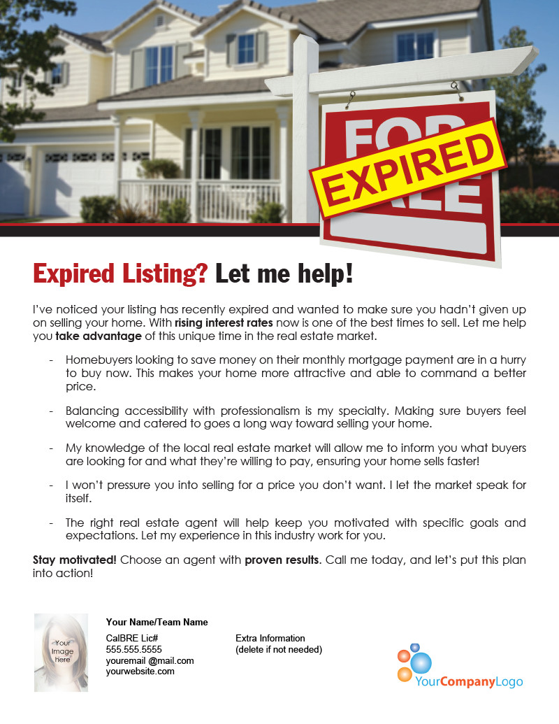 Expired Listing Letter Template Farm Expired Listing Let Me Help