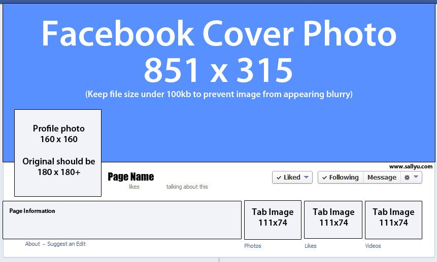 Facebook Cover Page Template Cover Image Size
