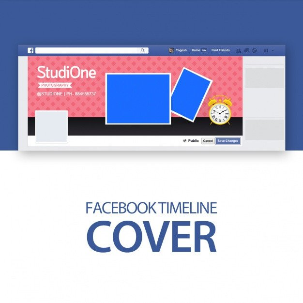 Facebook Cover Page Template Cover Template Psd File