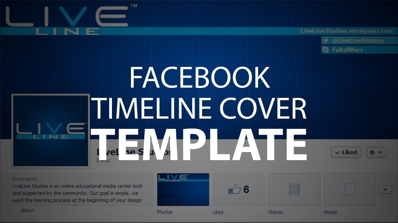 Facebook Cover Photoshop Template Shop Template Timeline Cover Psd File