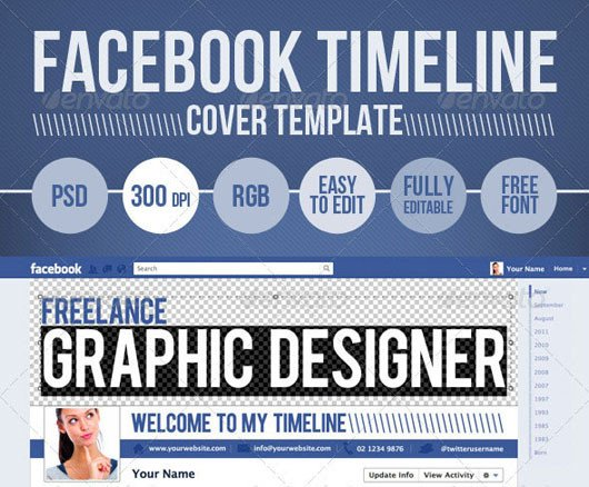 Facebook Cover Template Psd 60 High Quality Timeline Cover Psd Templates