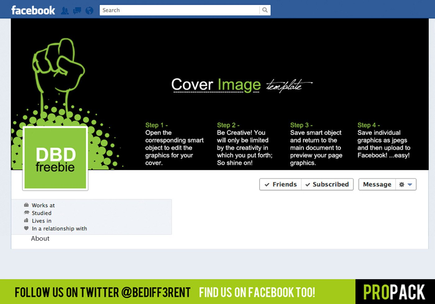 Facebook Cover Template Psd Dbd