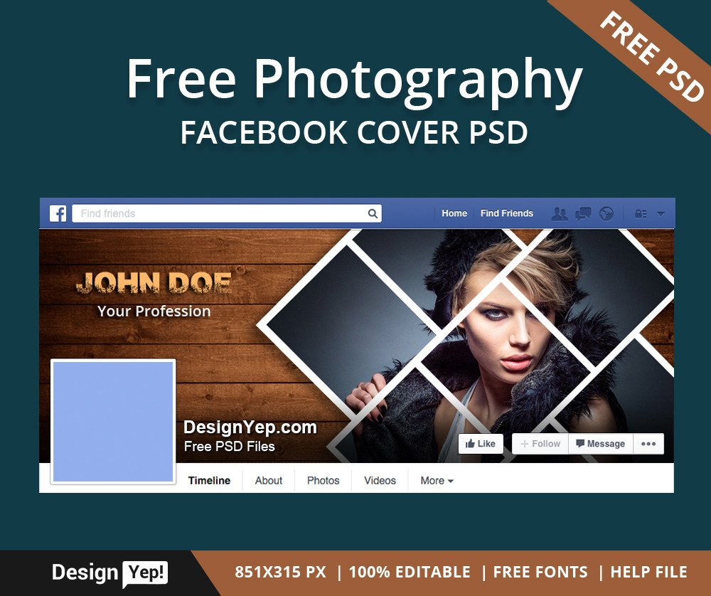Facebook Cover Template Psd Free Graphy Timeline Cover Psd Template