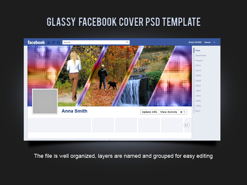 Facebook Cover Template Psd Glassy Cover Psd Template by Xara24 On Deviantart