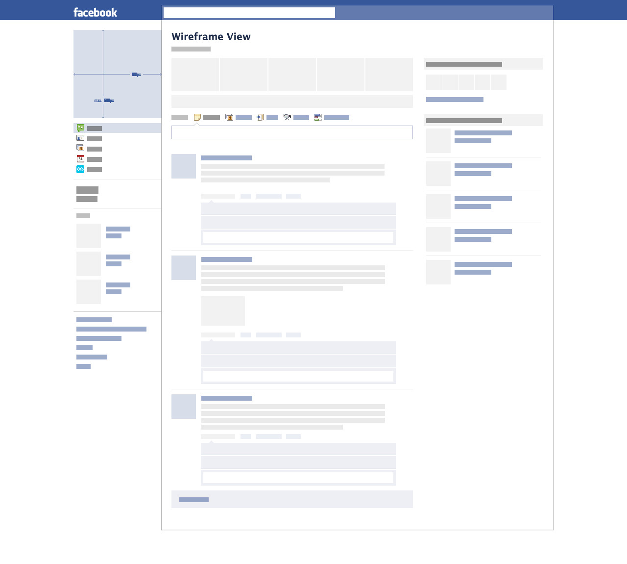 Facebook Profile Page Template Blank Template