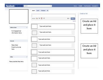 Facebook Profile Page Template Profile Template by Inspire Others