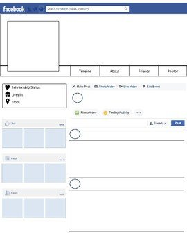 Facebook Profile Page Template Profile Template by Msgavulic