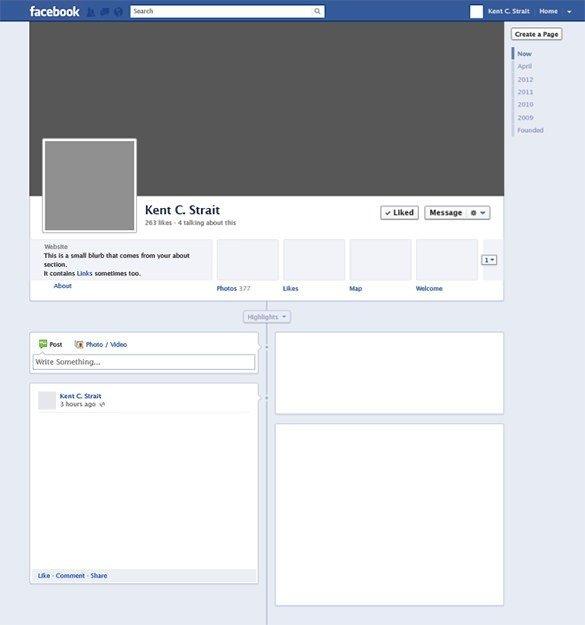 Facebook Profile Page Template Profile Template
