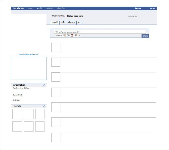 Facebook Template for Students 49 Templates Doc Pdf Psd Ppt