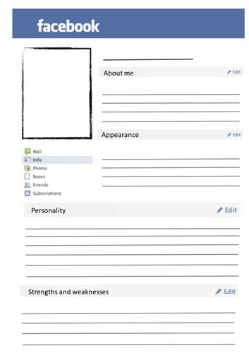 Facebook Template for Students Blank Page by Svwestray