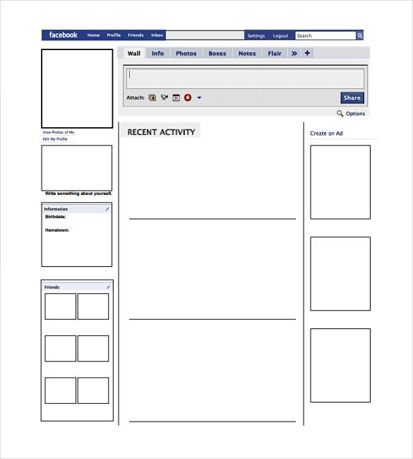Facebook Template for Students Blank Template – 11 Free Word Ppt & Psd