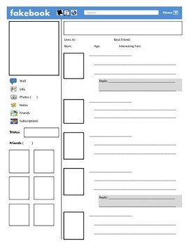 Facebook Template for Students Fakebook Template by Justin ford