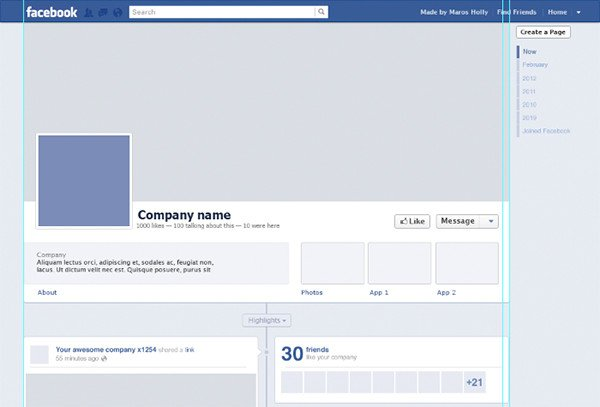 Facebook Template for Students Page Template