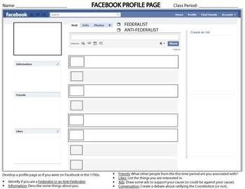 Facebook Template for Students Template for Students