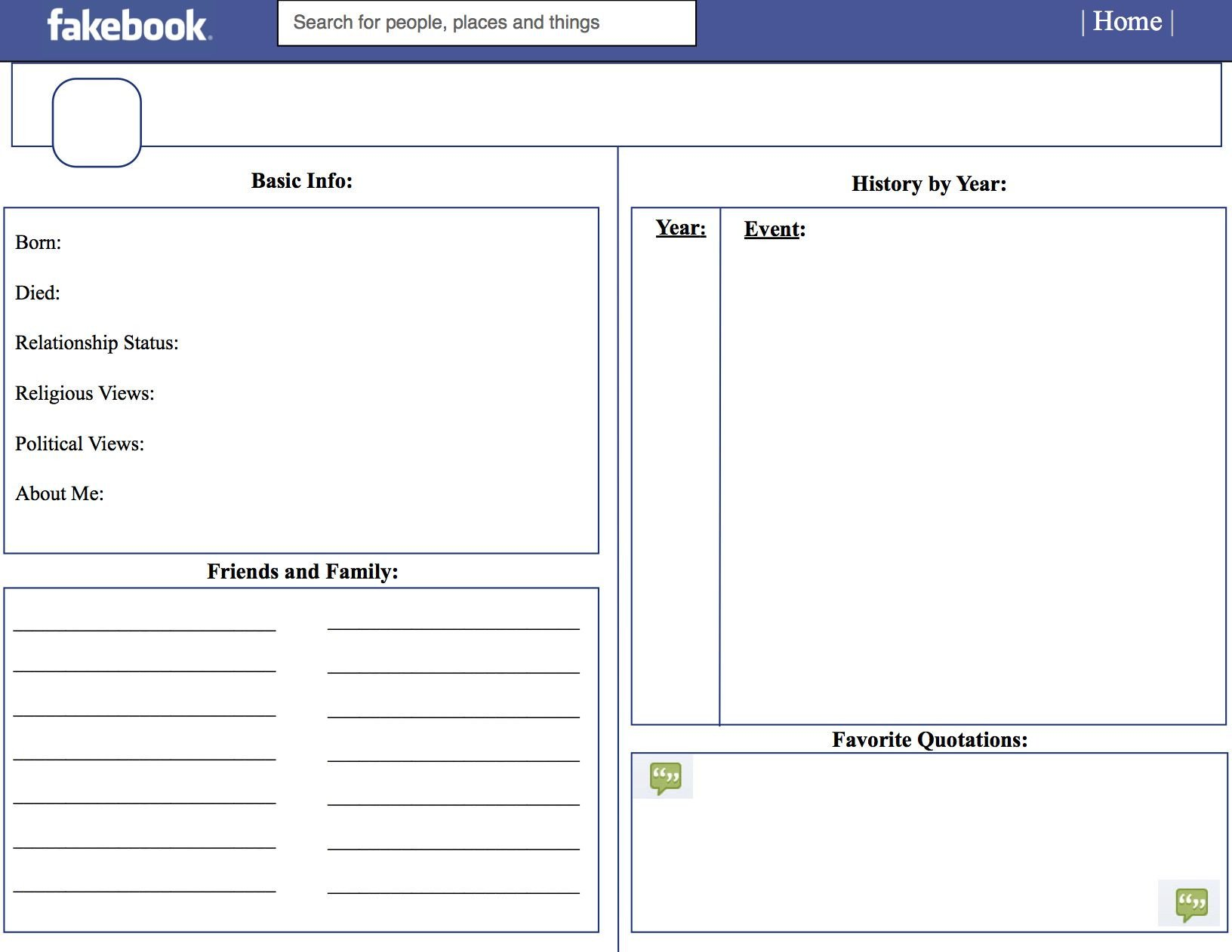 Facebook Template for Students Template for Teachers School